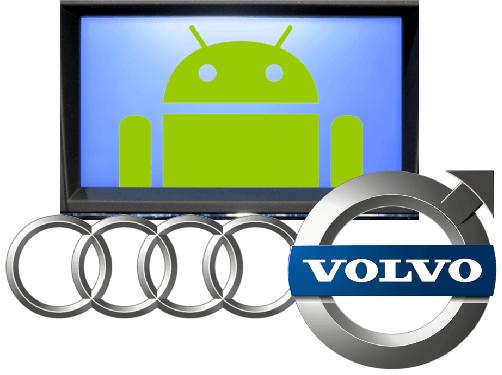 Volvo och Audi skapar Android-anslutningsbara bilar