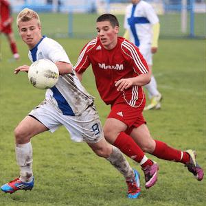 Spel på fotbollsmatcher med spelare under 18 år